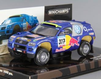 VOLKSWAGEN Race Touareg Rallye Barcelona Dakar Gordon / V. Zitzewitz 12th Place / Winners 1st&4th Leg #317 (2005), blue