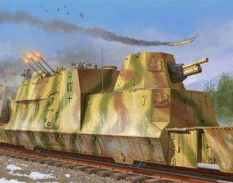 Сборная модель Артиллерийский и зенитный броневагон