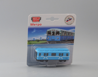 Вагон метро, голубой