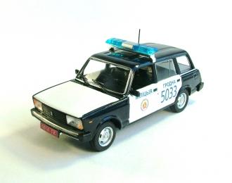 ВАЗ 2104 Милиция Белоруссии, Полицейские Машины Мира 55, черно-белый