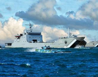 Сборная модель Chinese Navy 72A Tank Landing Ship (1:700,Trumpeter)