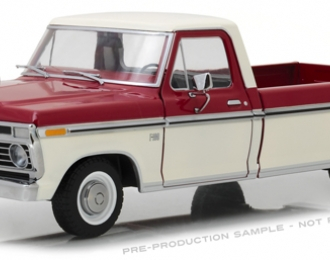 FORD F-100 пикап 1973 Red and White