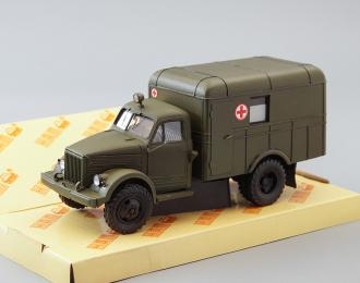 Горький 63 санитарный автомбиль АС-3, хаки