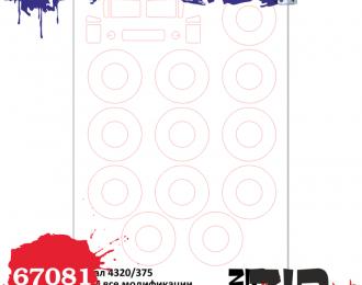 Набор масок Урал 4320/375, (ICM)