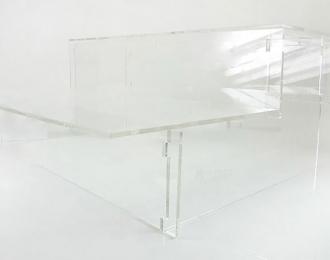 """Подставка под модели """"Лесенка"""", прозрачная с балконом 37см"""