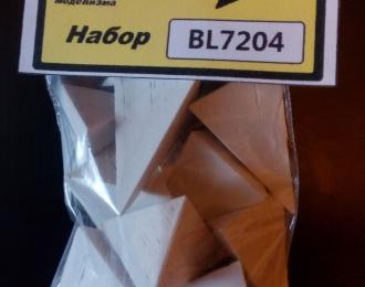 Надолбы бетонные (тетраэдр длинный), комплект 12 шт., серый