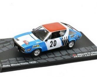 RENAULT 17 Gordini #20 J-F.Piot/J.De Alexandris 5 место Rally Monte-Carlo 1975