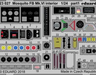 Фототравление для Mosquito FB Mk. VI интерьер
