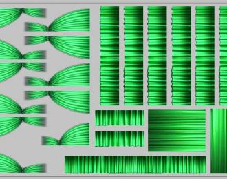 Набор декалей Шторки для Ikarus (200х70), зеленые