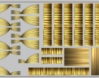 Набор декалей Шторки для Ikarus (200х70), бежевые