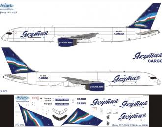 Декаль на самолет боенг 757-200F (Яктия Cargo)