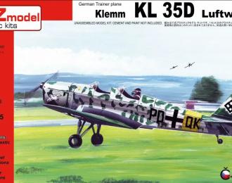 Сборная модель Самолет German Trainer plane Klemm KL 35D