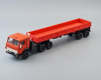 Камский грузовик 5410 с полуприцепом ОДАЗ-9370 (ранний), красный