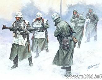 Сборная модель Немецкая пехота зимой. 1941-1942.