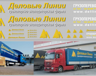 Набор декалей Транспортная компания Деловые линии (вариант 3) (100х290)
