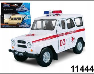 УАЗ 31514 скорая, белый