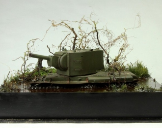 Танк КВ-2 (застрявший)