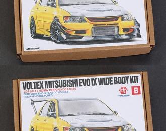 Конверсионный набор Voltex Mitsubishi EVO IX Wide Body Kit для моделей F (Resin+PE+Metal parts)