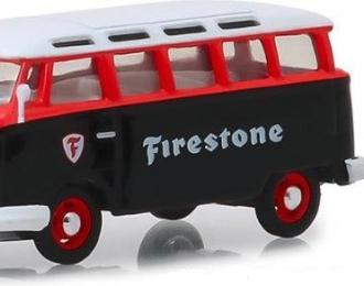 """VOLKSWAGEN Samba Bus """"Firestone"""" with Firestone Gas Pump 1964"""