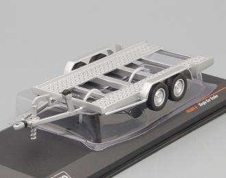 Прицеп-автовоз для легковых автомобилей, серебристый