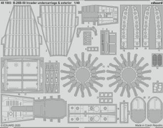 Набор фототравления B-26B-50 Invader шасси и экстерьер