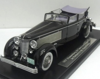 Duesenberg SJ Town Car Chassis 2405 by Rollson for Mr. Rudolf Bauer 1937 side window up (black)