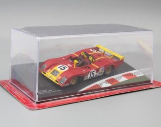 FERRARI 312 P 24h Le Mans Drivers: J.Ickx / B. Redman #15 (1973), red / yellow