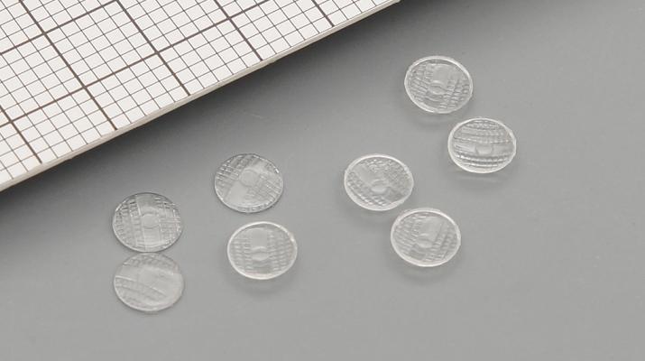 Комплект линз для фар (с рифлением) ФГ8-3711201 (4 мм), 8 шт