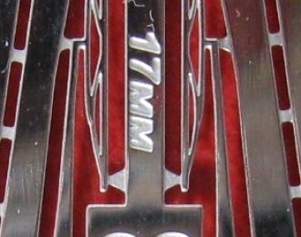 Фототравление Дворники 17мм, блестящий никель