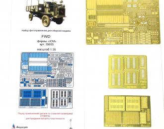 Набор фототравления на FWD type B от ICM