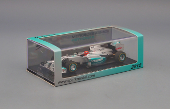 MERCEDES-BENZ AMG W03 Monaco GP Michael Schumacher (2012), silver