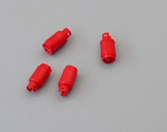 Баллоны газовые (большие)., набор 4 шт., красный