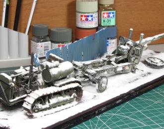 Сталинец С-60 и А-19 (зимняя композиция)