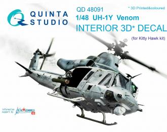 3D Декаль интерьера кабины UH-1Y Venom (для модели Kitty Hawk)