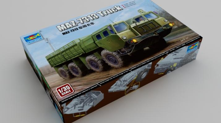 Сборная модель МАЗ-7313