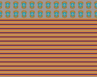 Набор декалей Эмблемы и полосы МЧС России (100х140)