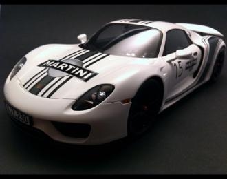 PORSCHE 918 Spyder Martini, white