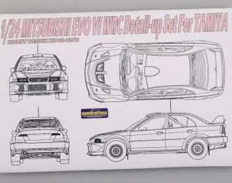 Набор для доработки Mitsubishi EVOVI WRC Detail-up Set для моделей T (PE+Resin+Metal parts)