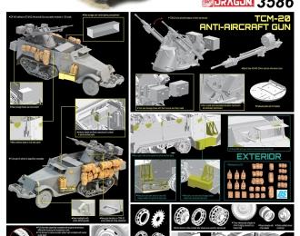 Сборная модель Израильский полугусеничный БТР M3 с зенитной установкой TCM-20