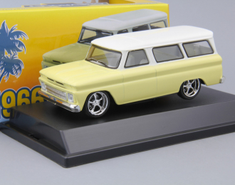 CHEVROLET Suburban (1966), yellow with white roof