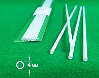 ABS пластик труба диаметр 4 мм - длина 250 мм - 5 шт