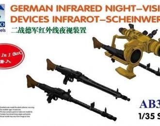 Сборная модель German Infrared Night -Vision DevicesInfrarot -Scheinwerfer