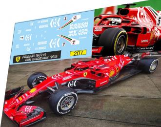 Набор декалей Formula 1 №37 Ferrari  SF71-H Kimi Raikonen