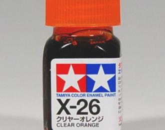 Лак оранжевый прозрачный X-26 эмаль, 10 мл.