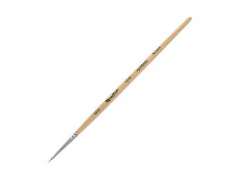 Кисть синтетика (мягкая) круглая №00 ROUBLOFF 1210, короткая ручка
