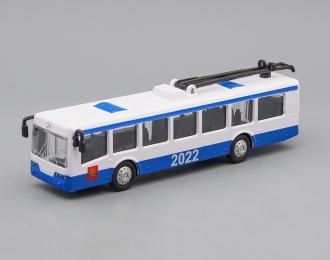 Троллейбус, синий / белый