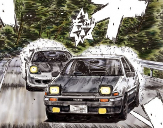 Сборная модель Toyota Trueno 86 Takumi Fujiwara Comics vol.37 ver.