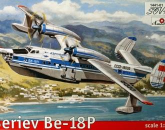 Сборная модель Советский пассажирский самолёт-амфибия Бе-18П