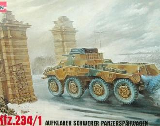 Сборная модель Немецкий бронеавтомобиль Sd.kfz.234/1 Aufklarer Schwerer Panzerspahwage