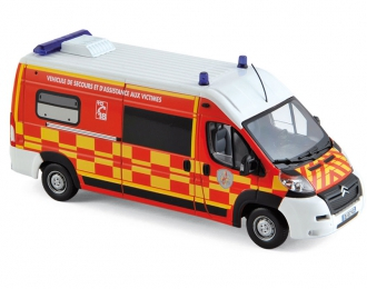 "CITROEN Jumper ""Pompiers-VSAV"" (2013), red / white / yellow"